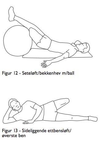 Seteløft /bekkenhev med ball