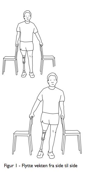 Balanseøvelser for benamputerte - flytte vekten fra side til side