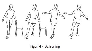 balanseøvelser for protesebrukere - ballrulling