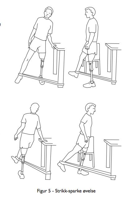 Balensetrening med strikk for protesebrukere