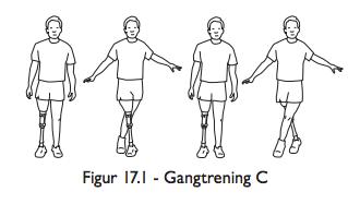 Gåtrening - gå sidelengs - gangtrening for protesebrukere - benamputerte